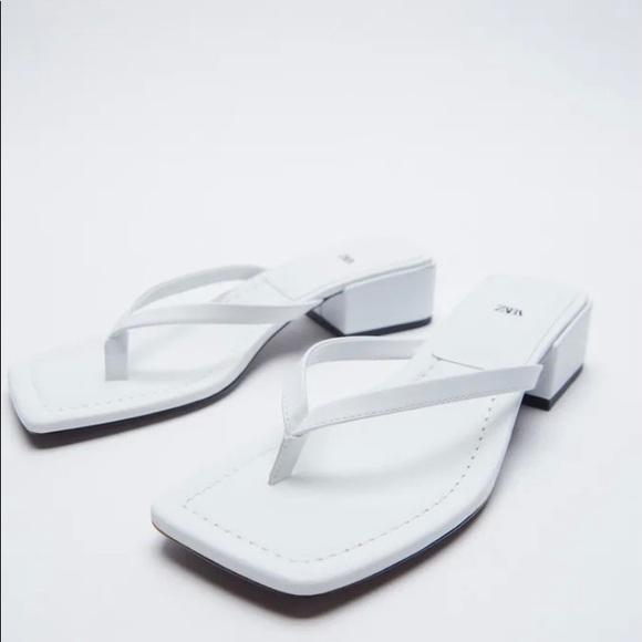 Zara Square Toe Heeled Sandals